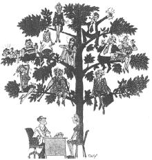 家族の木のイラスト