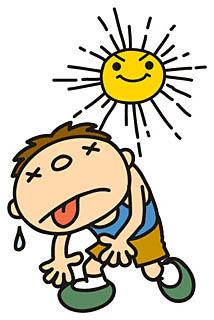 照りつける太陽のイメージ