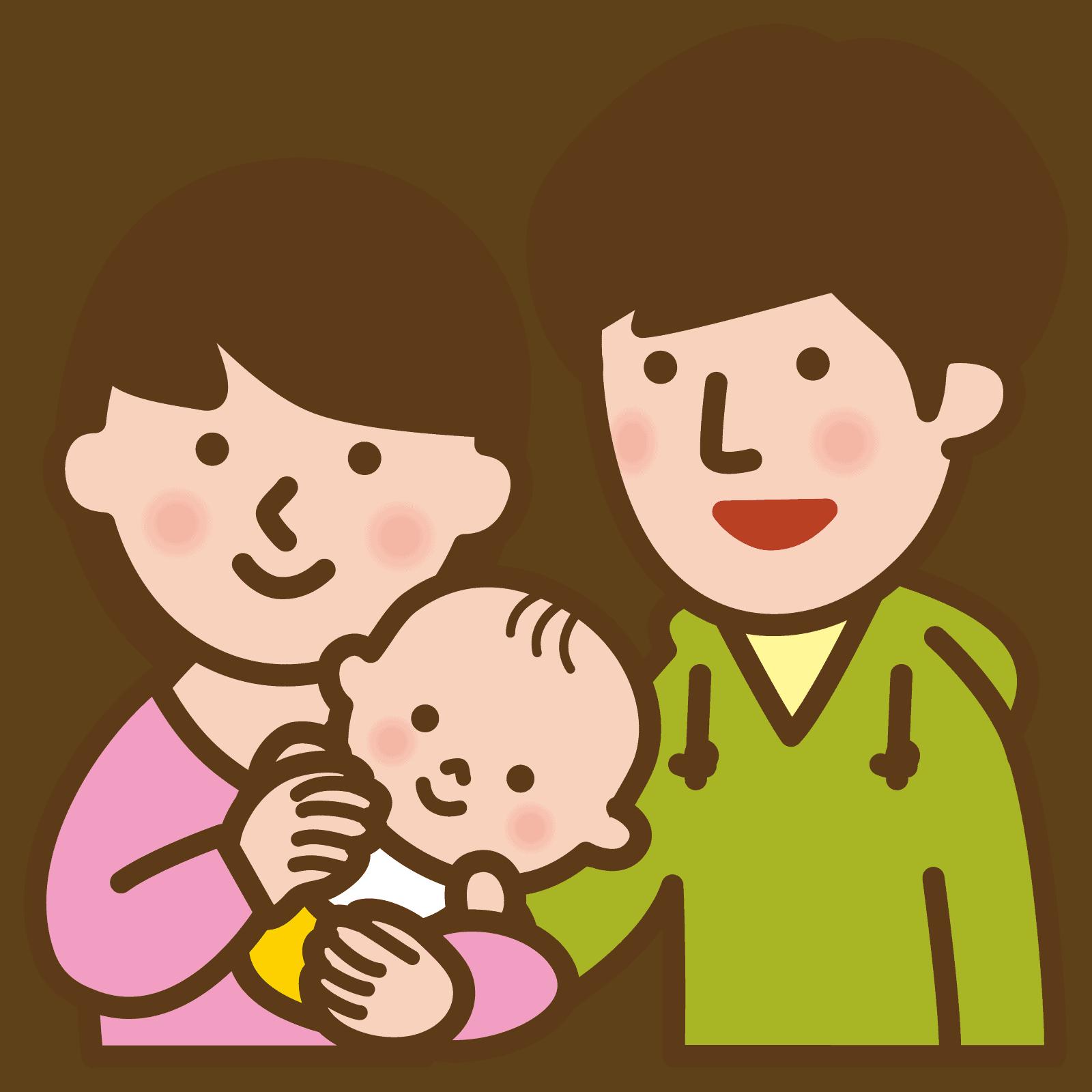 授乳中の赤ちゃんイラスト
